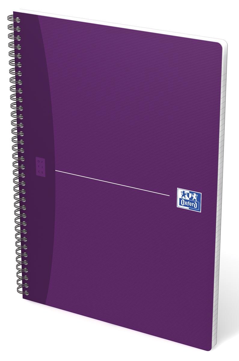 Oxford Office Essentials spiraalschrift, 100 bladzijden, ft A4, geruit 5 mm, geassorteerde kleuren