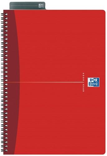 Oxford OFFICE Essentials spiraalblok, 180 bladzijden, ft A4, gelijnd
