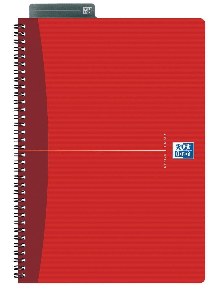 Oxford Office Essentials spiraalschrift, 180 bladzijden, ft A4, gelijnd, geassorteerde kleuren