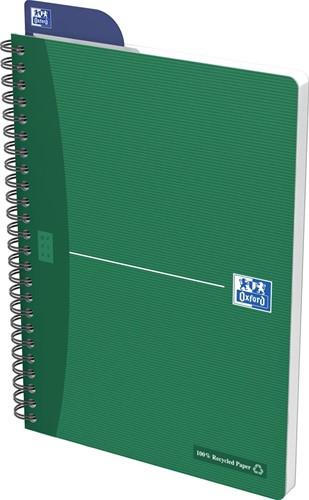 Oxford OFFICE Recycled spiraalblok, 180 bladzijden, ft A5, geruit 5 mm-2