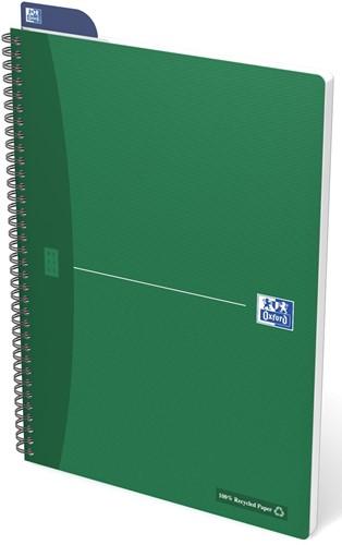 Oxford OFFICE Recycled spiraalblok, 180 bladzijden, ft A4, geruit 5 mm