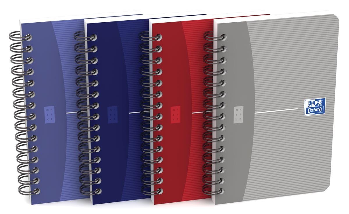 Oxford Office Essentials notitieboekje, 180 bladzijden, ft 9 x 14 cm, geruit 5 mm, geassorteerde kle