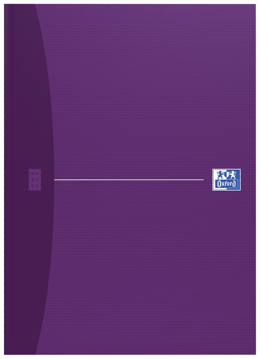 Oxford Office Essentials schrift, harde kaft, 192 bladzijden, ft A4, gelijnd, geassorteerde kleuren