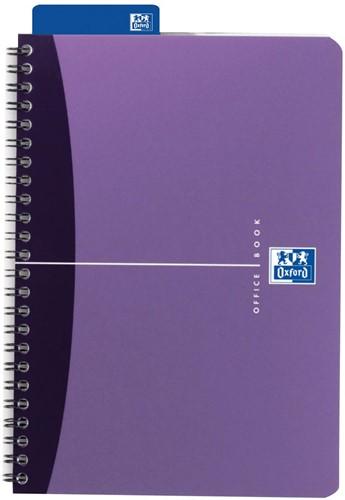 Oxford OFFICE Urban Mix spiraalblok, 180 bladzijden, ft A5, geruit 5 mm