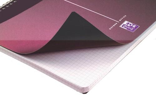 Oxford OFFICE Urban Mix spiraalblok, 180 bladzijden, ft A4, geruit 5 mm-2