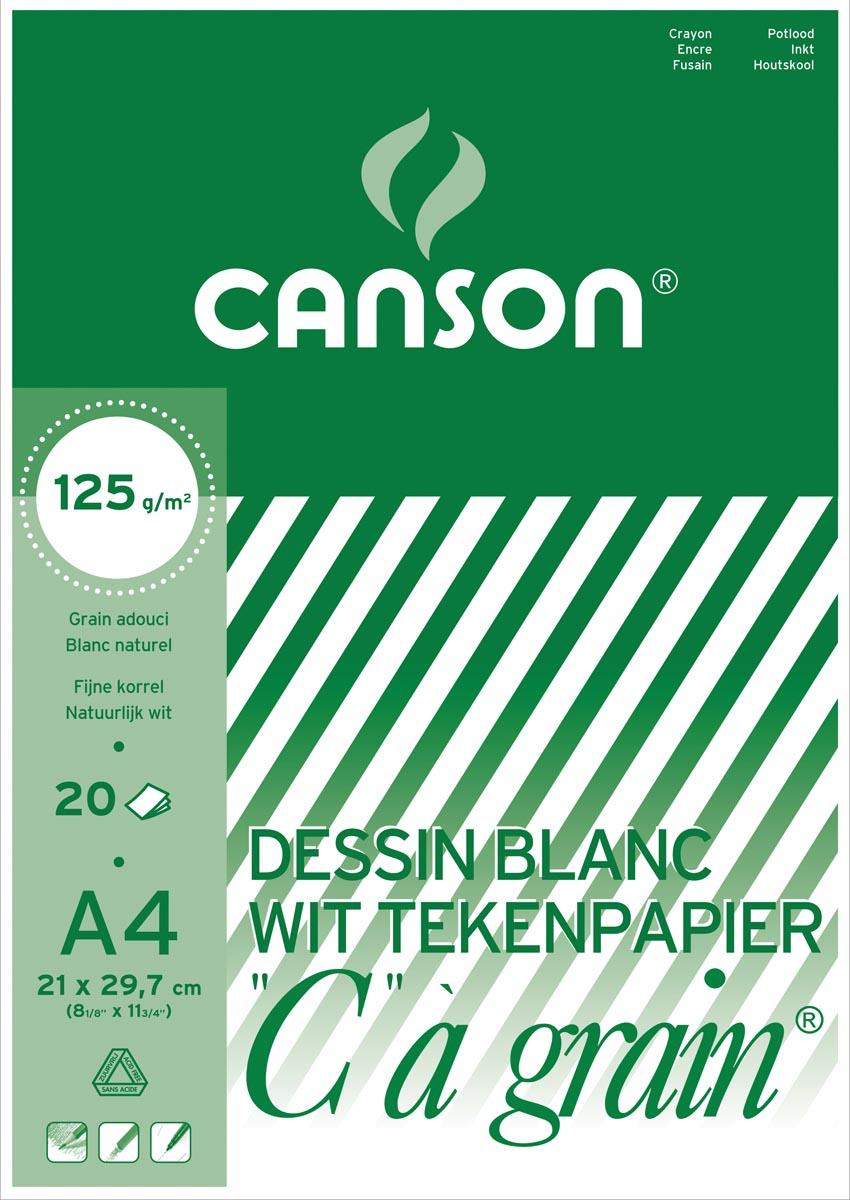Canson tekenblok C � grain 125 g/m�, ft 21 x 29,7 cm (A4)