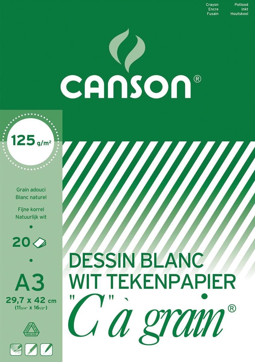 Canson tekenblok C � grain 125 g/m�, ft 29,7 x 42 cm (A3)
