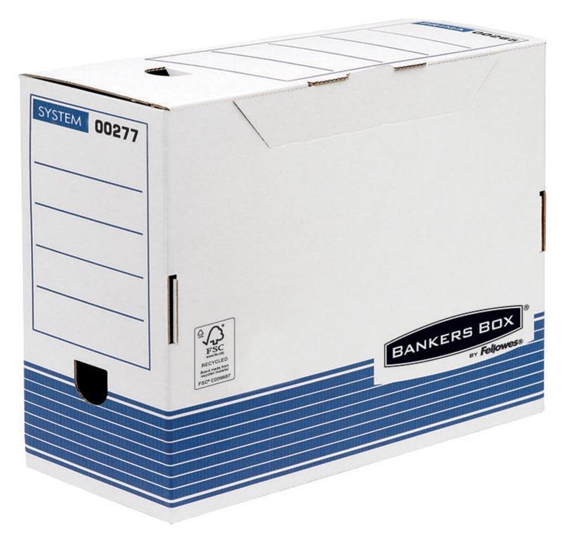 Bankers Box System transfer archiefdoos, ft A4, rug van 15 cm, blauw