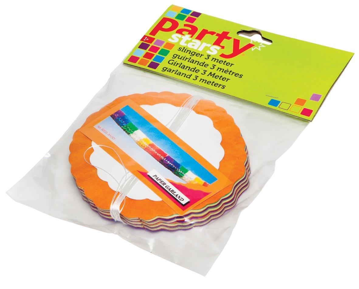 Party Stars slinger, geassorteerde kleuren, blisterverpakking
