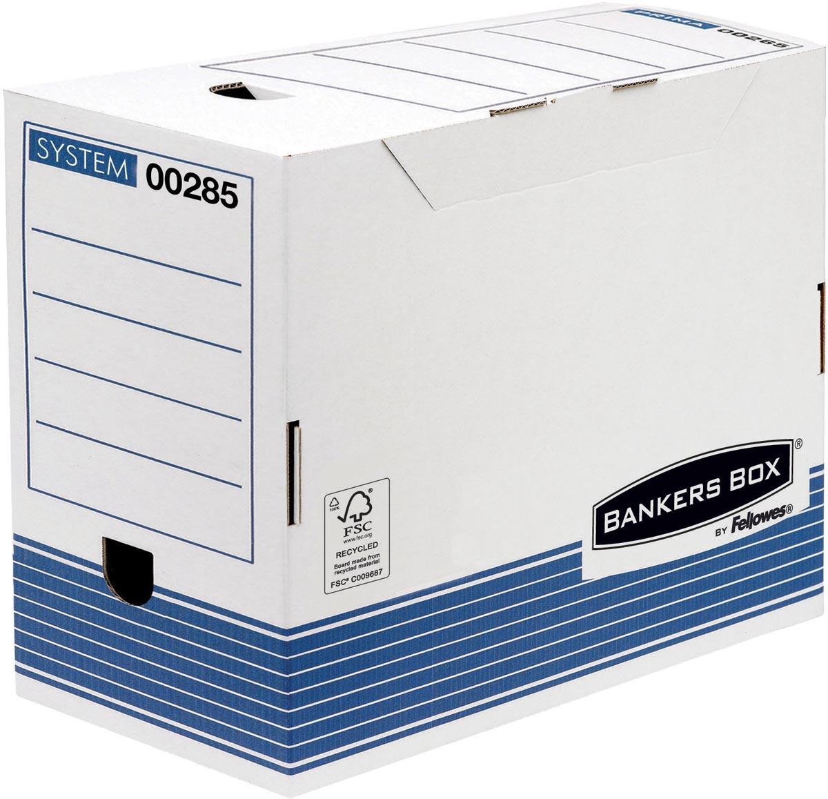 Bankers Box transfer archiefdoos, formaat 20 x 31,5 x 26 cm, blauw