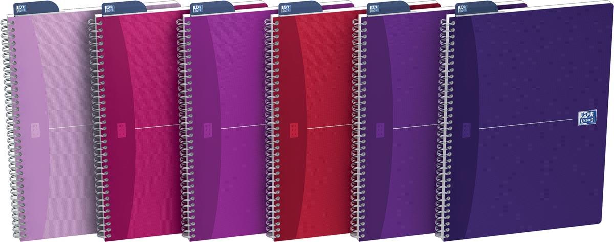 Oxford Office My Style spiraalschrift, 180 bladzijden, ft A4, geruit 5 mm, geassorteerde kleuren