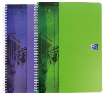 Oxford MyColour schrift, 1+1 pak, ft A4, geruit 5 x 5 mm, 90 vel, geassorteerde kleuren