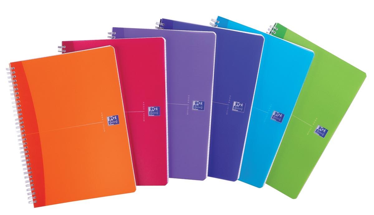 Oxford Office My Colours spiraalschrift, 180 bladzijden, ft A4, gelijnd, geassorteerde kleuren