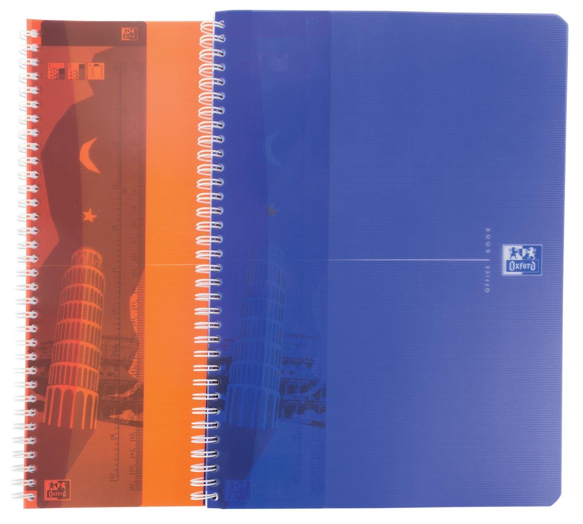 Oxford MyColour schrift, 1+1 pak, ft A4, 90 vel, gelijnd, geassorteerde kleuren