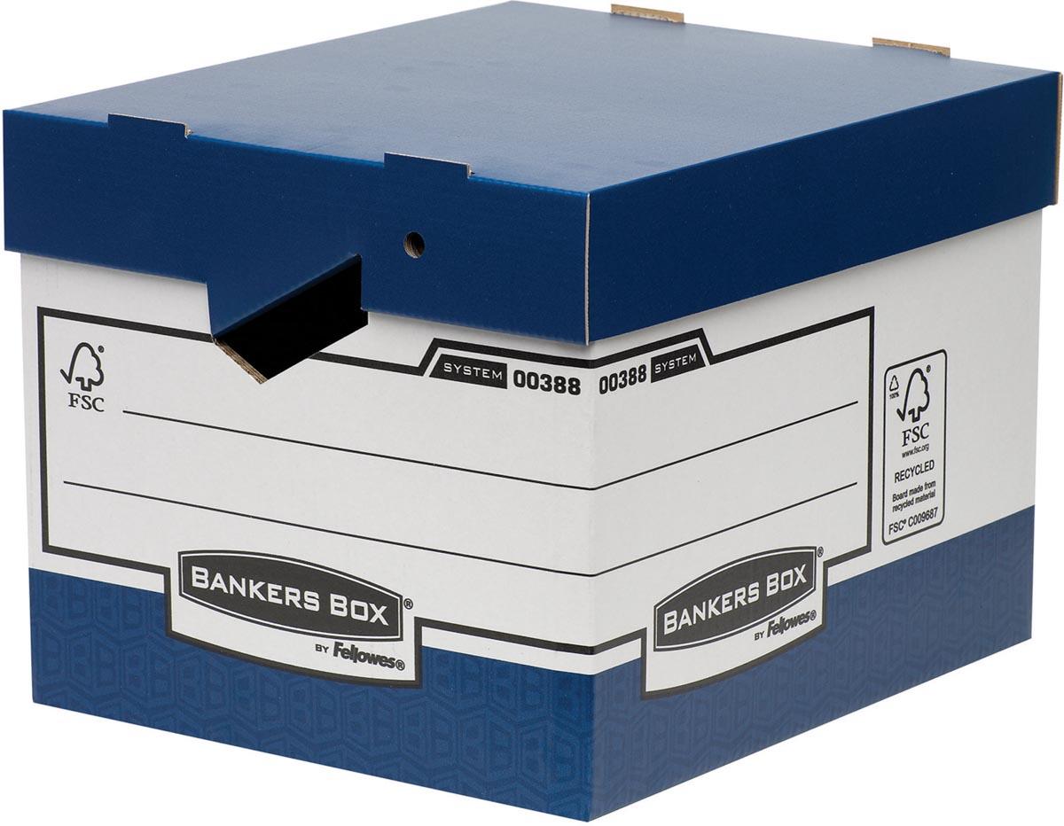 Bankers Box archiefdoos, formaat 33,3 x 29,2 x 40,4 cm, blauw