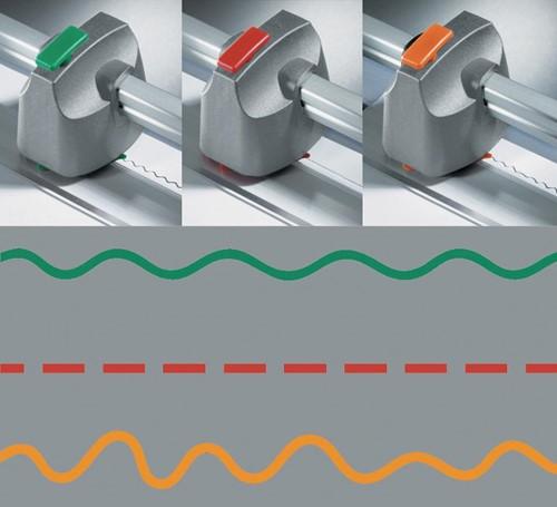 Dahle snijkoppen voor snijmachines, model 500, 507 en 508, set, 3 stuks (perforatie, zigzag en kartel)