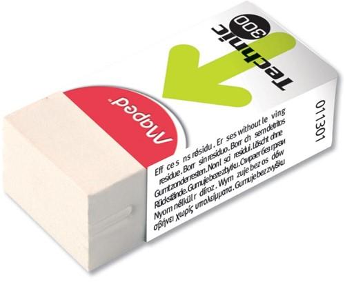 Maped gum Technic 300 in kartonnen beschermetui en verpakt onder cellofaan, doos van 36 stuks