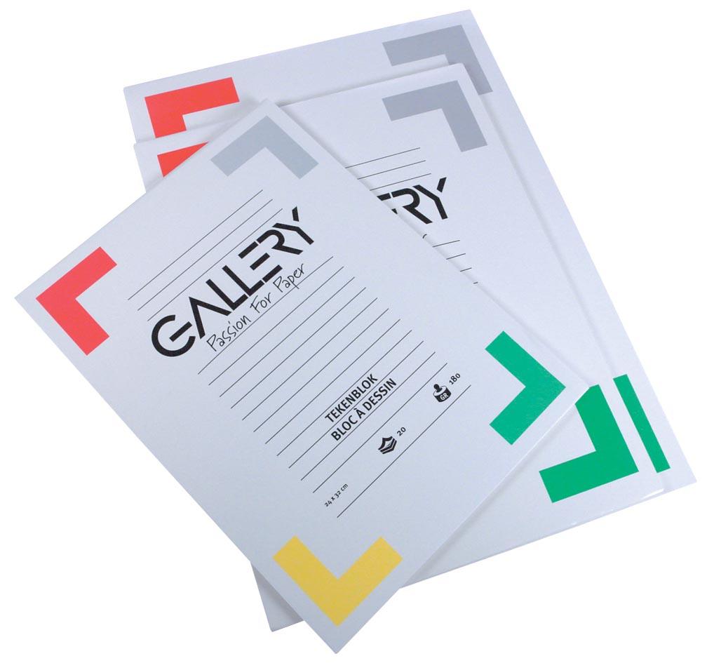 Gallery tekenblok ft 24 x 32 cm, extra zwaar houtvrij papier, 190 g/m², blok van 20 vel