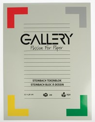 Gallery Steinbach tekenblok, gekorreld, ft 27 x 36 cm,  250 g/m², blok van 20 vel