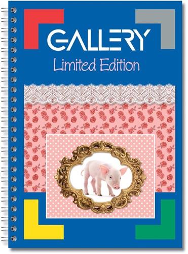 Gallery Spiraalblok Limited Edition ft A4+, geruit 5 mm