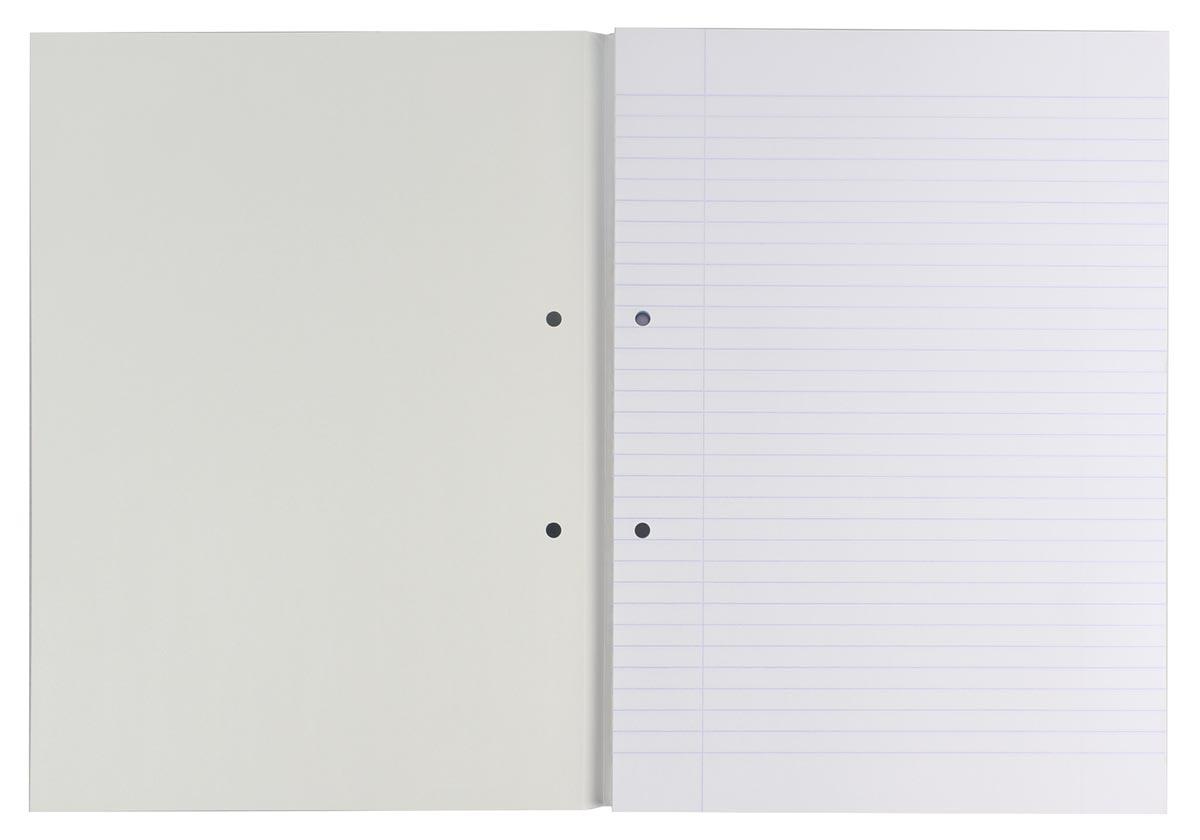 Gallery cursusblok, ft A4, 80 g/m², 2-gaatsperforatie, gelijnd, 100 vel-2