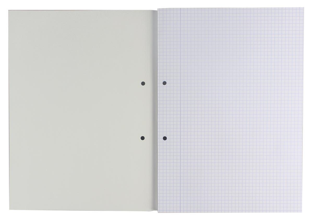 Gallery cursusblok, ft A4, 80 g/m², 2-gaatsperforatie, geruit 5 mm, 100 vel-2