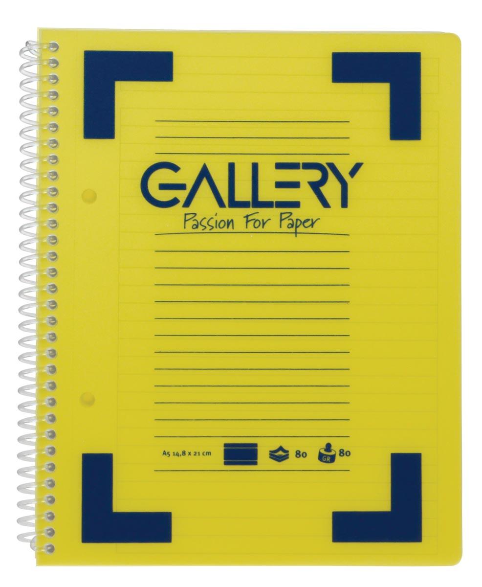 Gallery Traditional spiraalschrift ft A5, gelijnd, geassorteerde kleuren, 160 bladzijden-3
