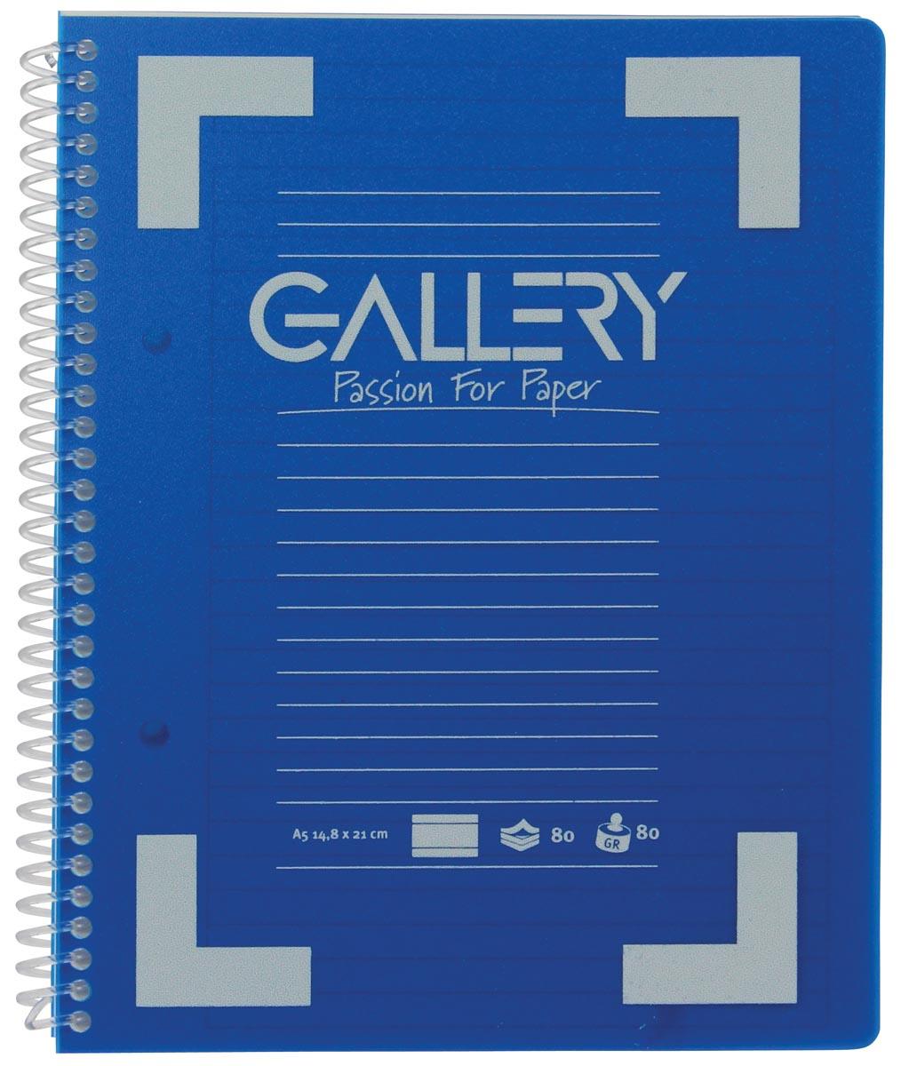 Gallery Traditional spiraalschrift ft A5, gelijnd, geassorteerde kleuren, 160 bladzijden-1