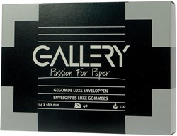 Gallery enveloppen ft 114 x 162 mm, 110 g/m² (royal), gegomd, doos van 40 stuks