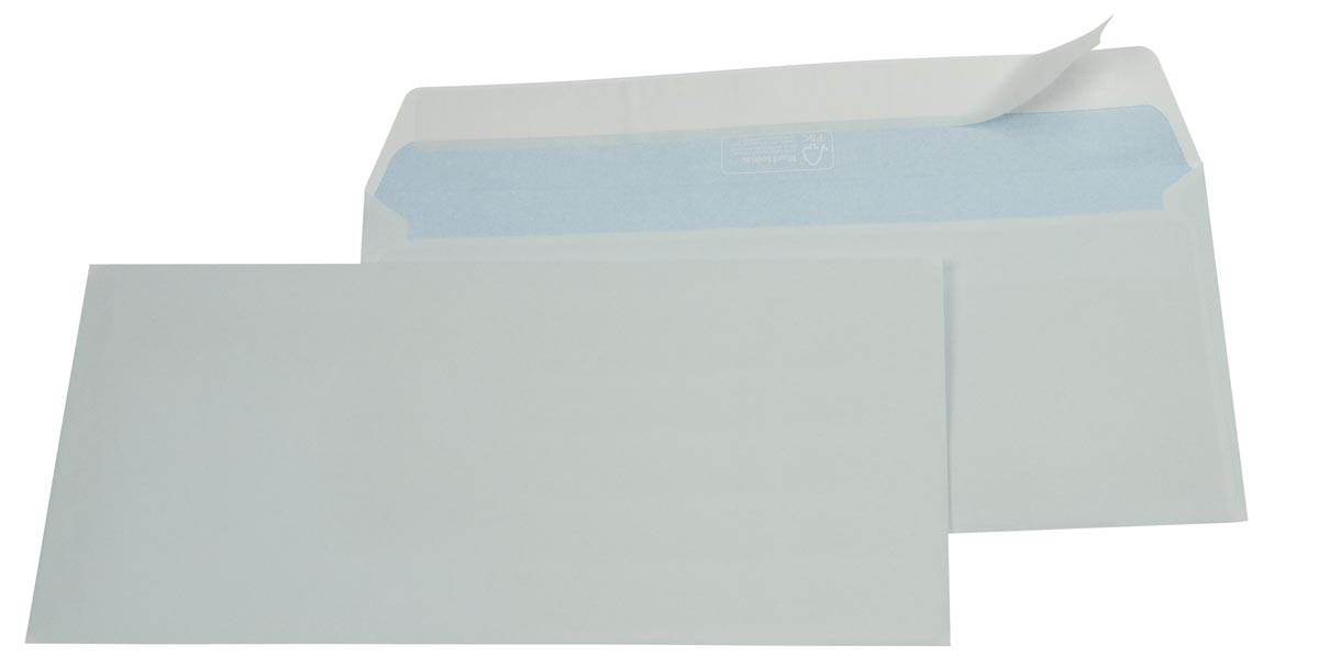 Gallery enveloppen ft 114 x 229 mm, stripsluiting, doos van 500 stuks
