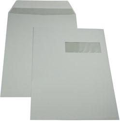 Gallery enveloppen ft 229 x 324 mm, venster rechts, gegomd, binnenzijde grijs, doos van 250 stuks