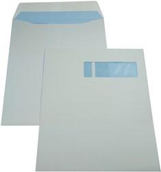 Gallery enveloppen ft 230 x 310 mm, venster rechts, gegomd, binnenzijde blauw, doos van 250 stuks