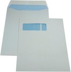 Gallery enveloppen ft 230 x 310 mm, venster links, gegomd, binnenzijde blauw, doos van 250 stuks