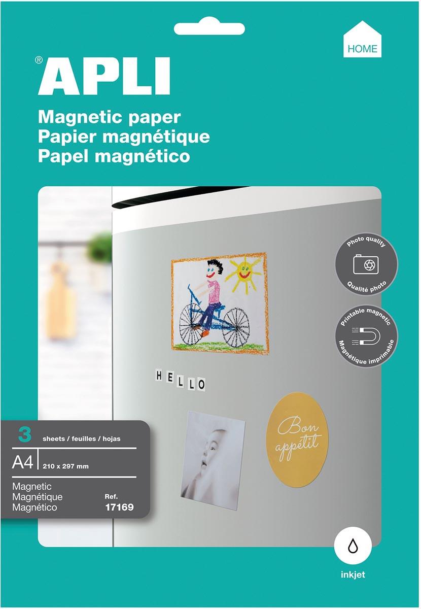 Apli magnetisch papier, pak van 3 vellen