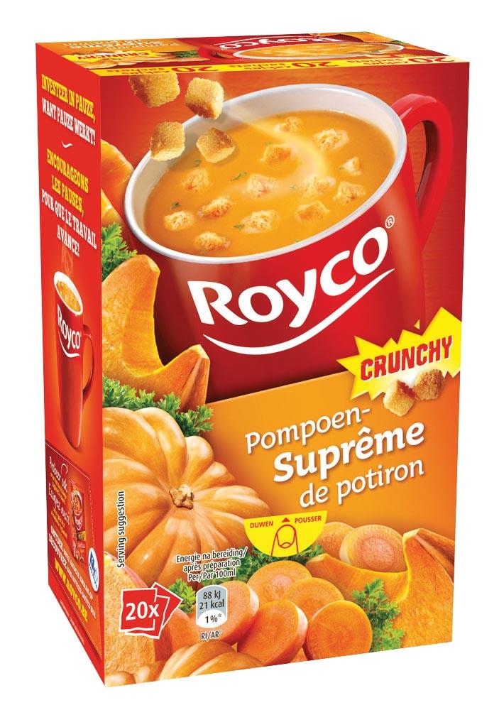 Royco Minute Soup pompoensupr�me met croutons, pak van 20 zakjes