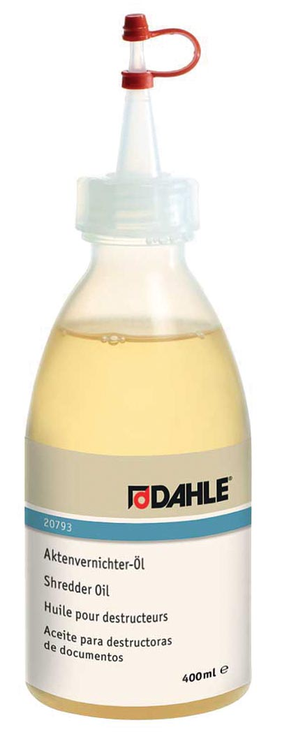 Dahle olie voor papiervernietigers, flacon van 400 ml