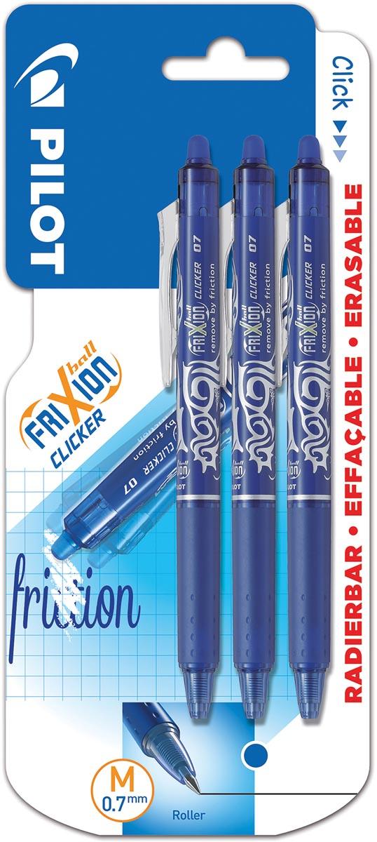 Blister Frixion Ball Clicker 0,7 X 3 Blauw