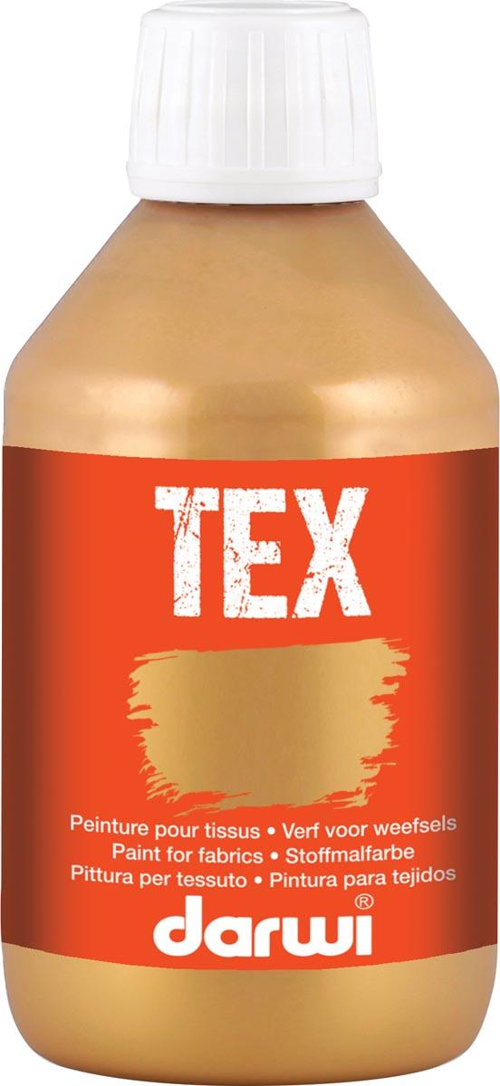 Darwi textielverf Tex, 250 ml, goud