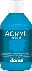Darwi glanzende acrylverf, flacon van 250 ml, lichtblauw