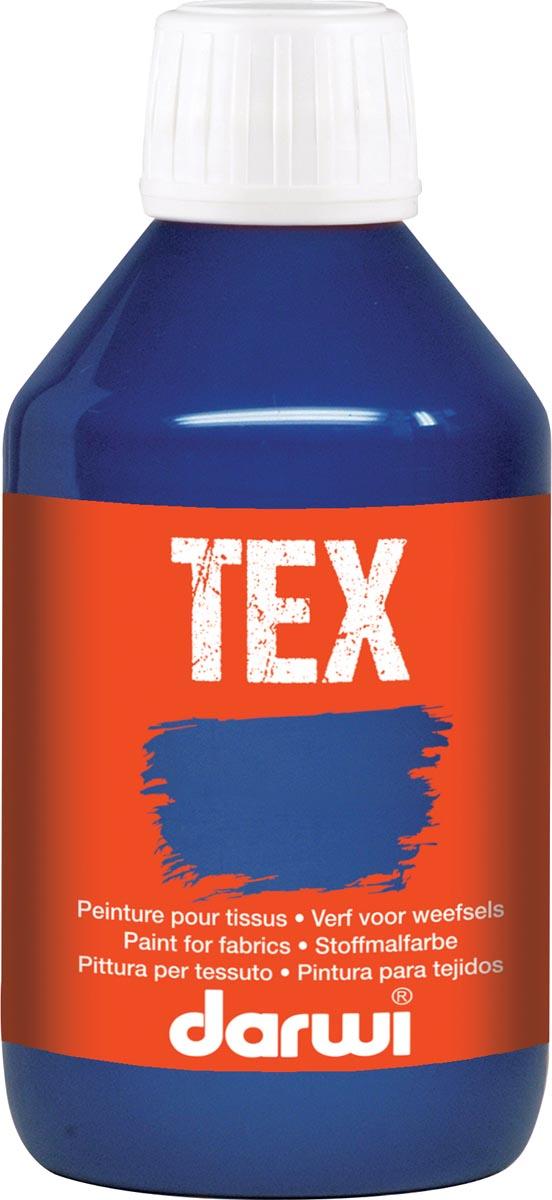 Darwi textielverf Tex, 250 ml, ultramarijn