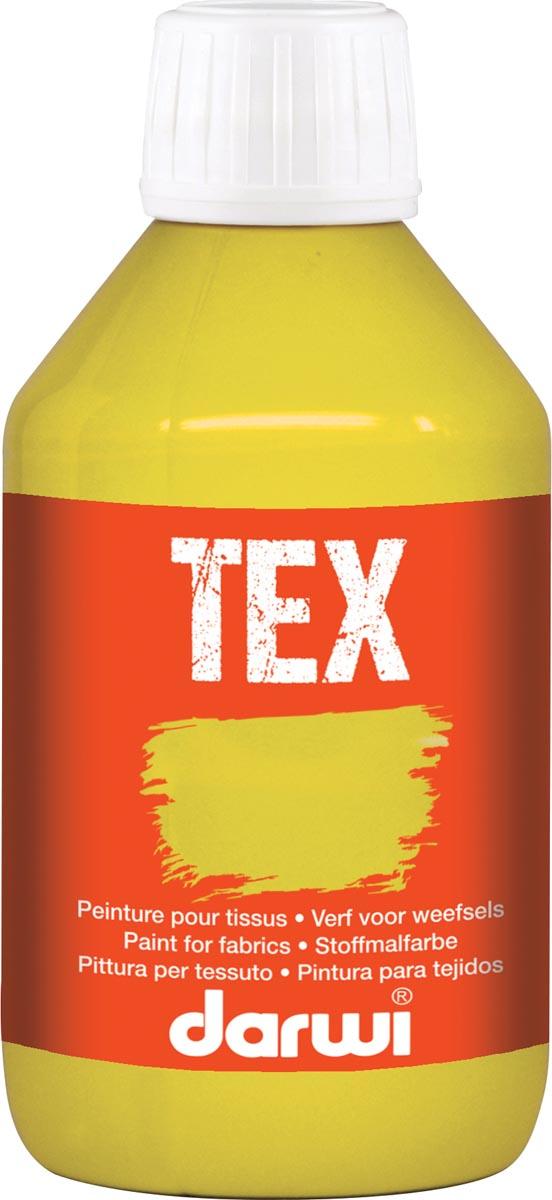 Darwi textielverf Tex, 250 ml, goudgeel