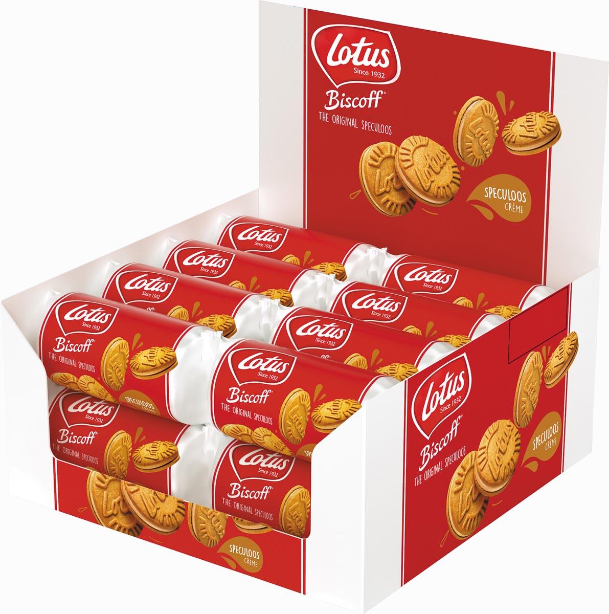 Lotus Biscoff gevulde speculoos, display van 16 stuks met 5 koekjes, 50 g, speculooscrème