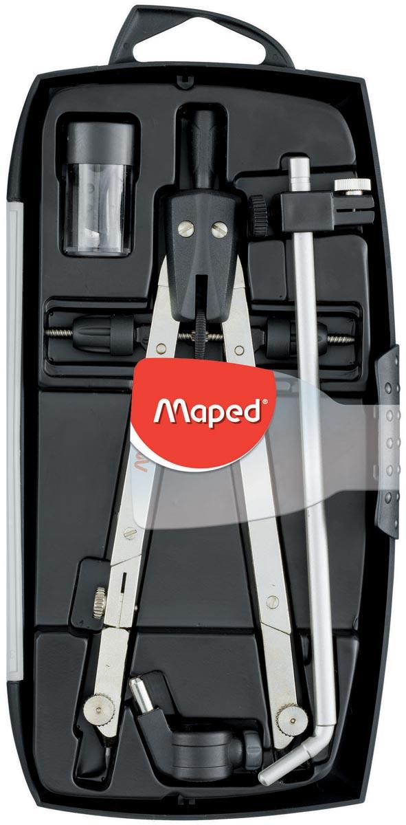 Maped verdeelpasser Giant 4-delige passerdoos: - 1 boogpasser - 1 verlengstang - 1 universele adapt.