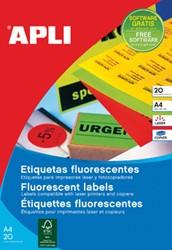 Apli fluorescerente etiketten 210 x 297 mm (b x h) groen
