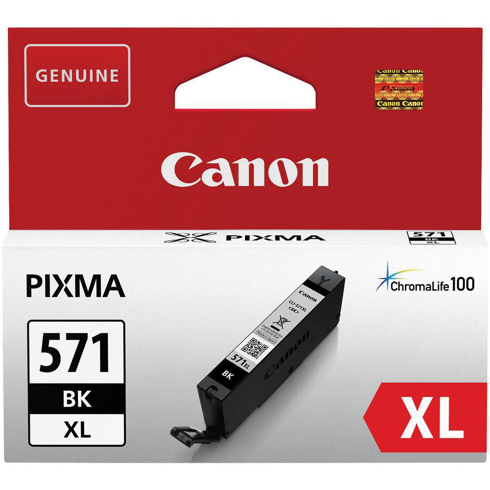 Canon inktcartridge CLI-571XL, 810 pagina's, OEM 0331C001, zwart
