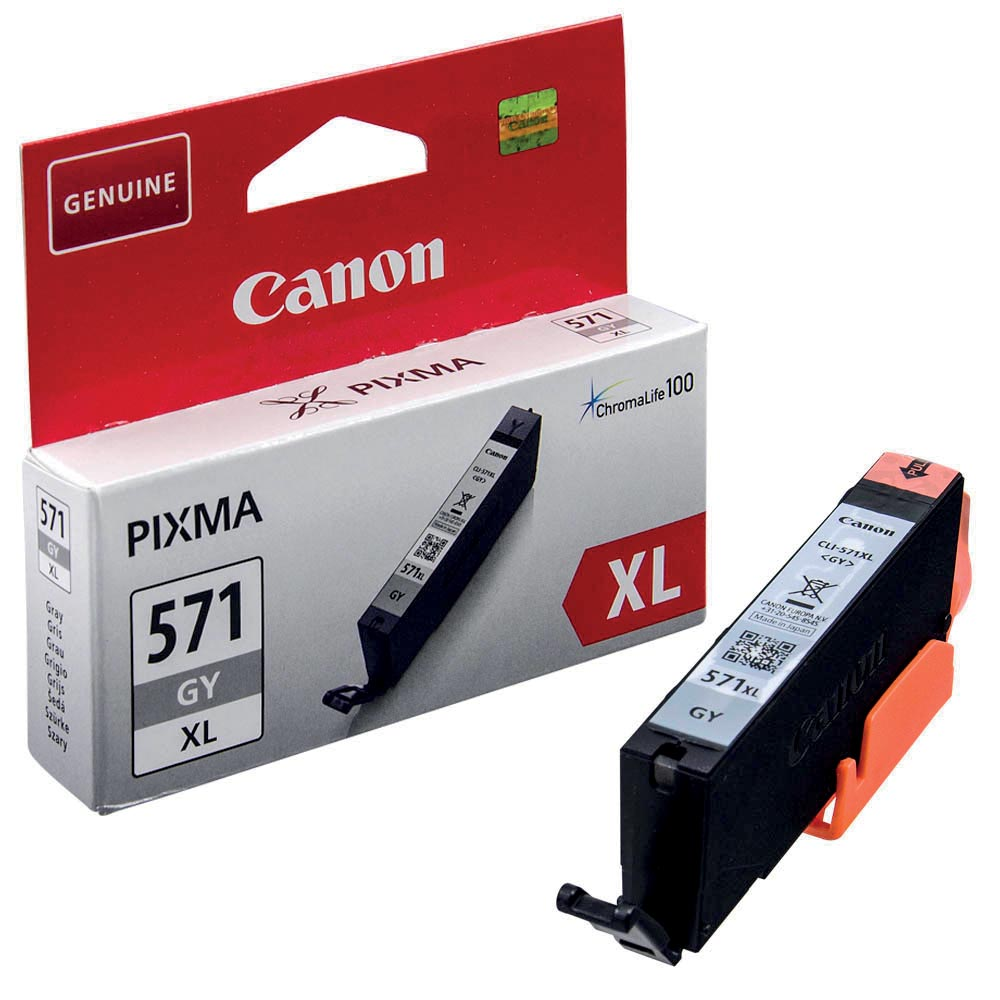 Canon inktcartridge CLI-571XL, 715 pagina's, OEM 0335C001, grijs