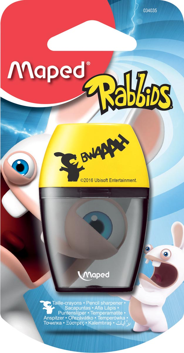 Maped potloodslijper Rabbids 1-gaats, op blister