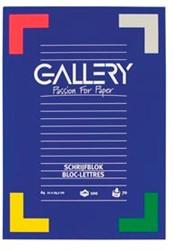 Gallery schrijfblok, ft A4, blanco, 100 vel