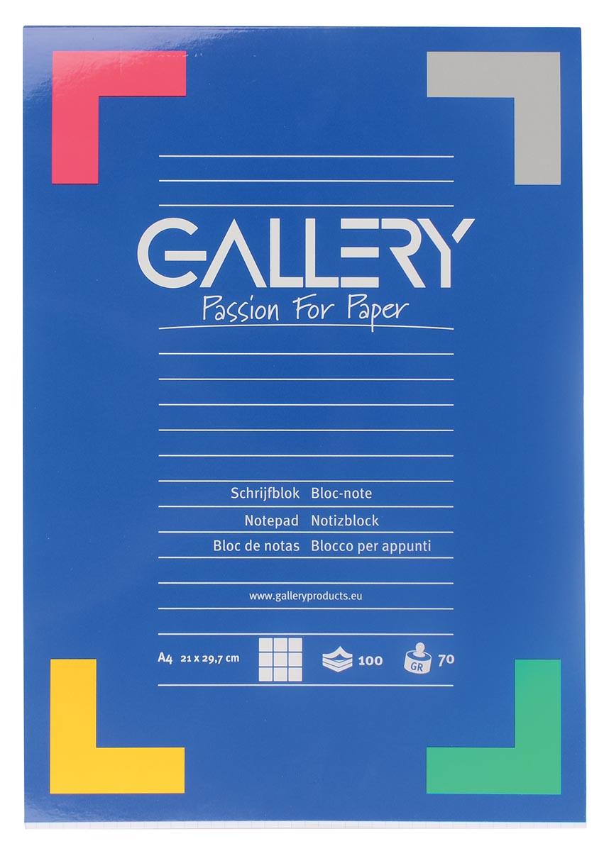 Gallery schrijfblok, ft A4, geruit 5 mm, 100 vel