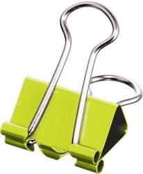 Maped foldbackclip klein model, 19 mm, verpakt in een ophangdoosje, 10 stuks: groen, blauw, violet, ge...